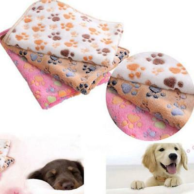 Pet Sleeping Blanket Winter Print Dog Cat Puppy Fleece Soft Mat Cushion Pad Gift