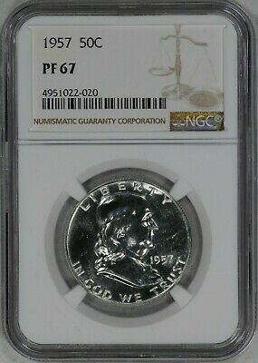 1957 Franklin Half Dollar 50C Ngc Certified Pf 67 Proof (022-020)