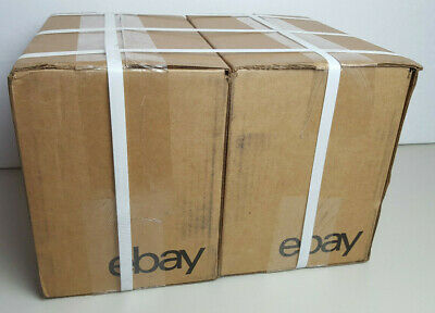 "(QTY 50) NEW EDITION eBay-Branded Boxes With Black Color Logo 6"" x 4"" x 4"""