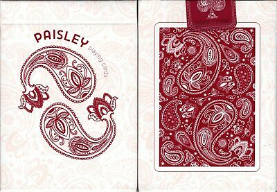 Paisley Red Marked Playing Cards Poker Size Deck USPCC Custom Limited Edition