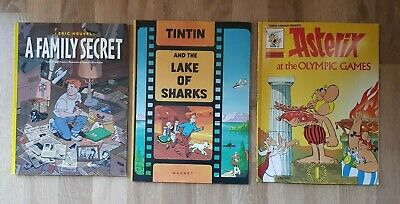 Three Comic Books Asterix Tintin & Eric Heuvel A Family Secret Good Condition