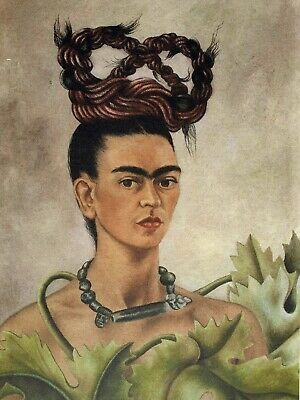 Frida Kahlo, Self Portrait with Braid 1941, Hand Signed Lithograph