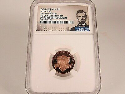 2019 S Lincoln Cent From Clad Proof Set NGC Pf 70 Rd Ucam First Day of Issue