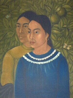 Frida Kahlo, Two woman 1929, Hand Signed Lithograph