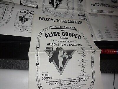 ALICE COOPER 1975 Welcome To My Nightmare MOVIE LOBBY POSTER promo