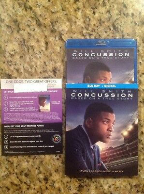 Concussion (Blu-ray Disc,2016,Digital Copy UltraViolet)Authentic Us Release