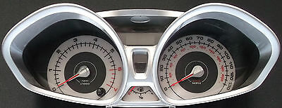 Ford Fiesta Mk7 Stunning White Dials (Petrol Model from 2008 on)