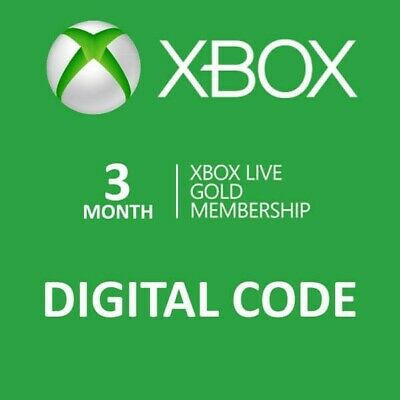 Xbox Live Gold 3 month DIGITAL CODE (Xbox One/360) WorldWide 24 HOUR DELIVERY