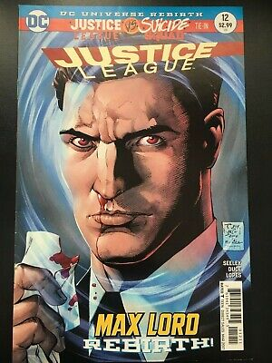 JUSTICE LEAGUE #12  (2017) DC REBIRTH - vs SUICIDE SQUAD  NM  B&B