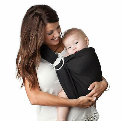 4 in 1 Baby Wrap Carrier and Ring Sling by Kids N' Such | Black