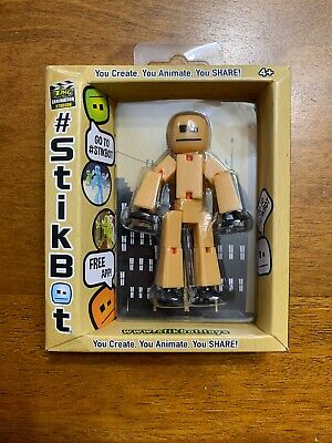 StickBot Peach//Black You Create You Animate You Share  by ZING Studio NEW