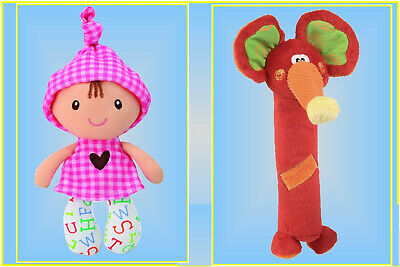 Dolly Squeaker (Pink)  Plus Squeaker Trumpet