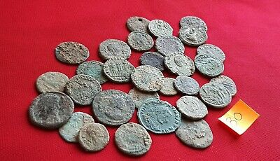 Ancient Roman coins - UNCLEANED COINS - Beautiful . Lot with 30 pieces .No 80