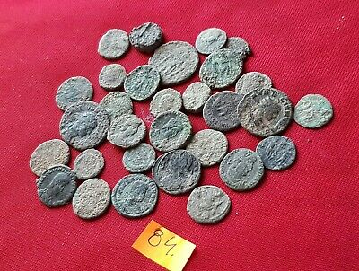 Ancient Roman coins - UNCLEANED COINS - Beautiful . Lot with 30 pieces .No 84