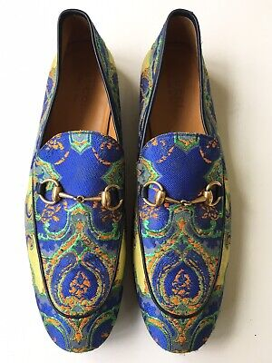 1660286825c GUCCI  Jordaan  Horsebit Floral Jacquard Loafer Men s 431332 Sz 11.5 UK (12  US