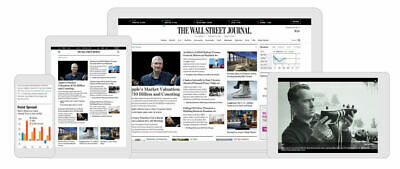 Wall Street Journal WSJ 5 Year Personal Digital Subscription