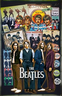 """The Beatles-11x17"""" Poster  - Vivid Colors!  (signed by artist)"""