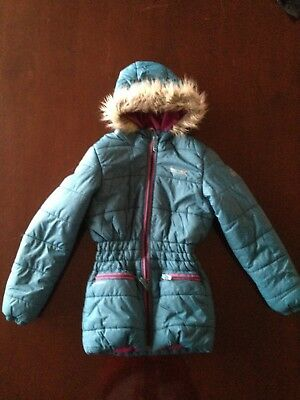 Regatta Great Outdoors Childrens/Girls Skyward Quilted Parka Jacket Size 11-12
