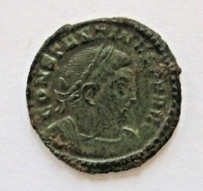 AE2 Nummus of Roman Emperor Constantine I the Great -  Sol with Globe 316 CE