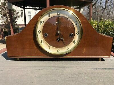Vintage Art Deco SOLAR Mantel Chime Clock Made in Germany WORKS! Key Wind