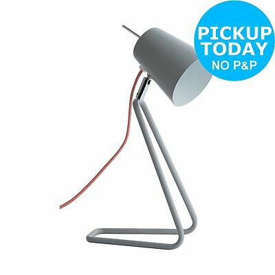 Habitat Lizzie Grey Desk Light