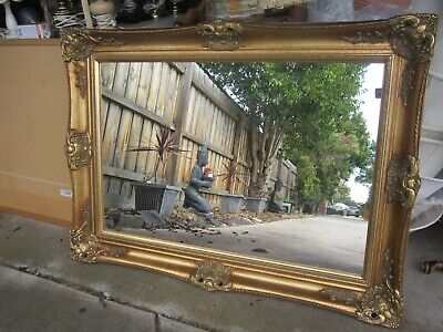 Impressive Large Vintage Art Deco Gold Gilt Frame Mirror
