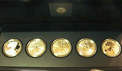 2011 25th Anniversary 5 coin set of 1 oz American Silver Eagles ASE Ag  #MF-890