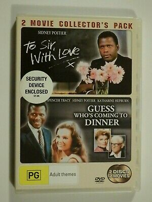 To Sir With Love + Guess Who's Coming To Dinner 2 Disc Set DVD Sidney Poitier GD