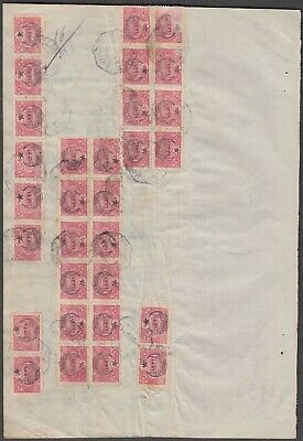 Turkey Ottoman Empire Very Scarce Revenue Document With 30 Stamps