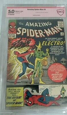 AMAZING SPIDER-MAN #9 CBCS 5.0 SIGNED BY STAN LEE VERIFIED! 1st APP ELECTRO KEY