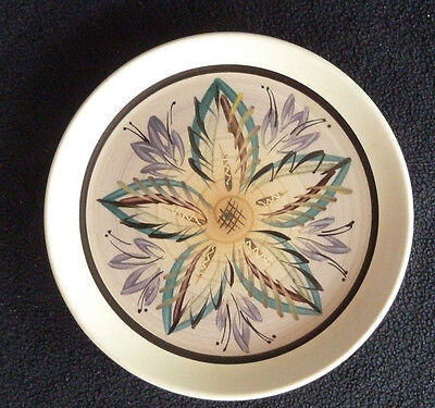Denby Stoneware Small Decorative 17 cm Side Plate Leaf / Leaves Design Pottery