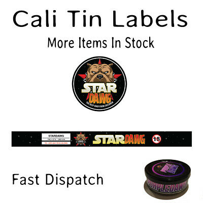 STARDAWG Cali Tin Labels Stickers 100ML CAN (8 + 8 = 16 Stickers)