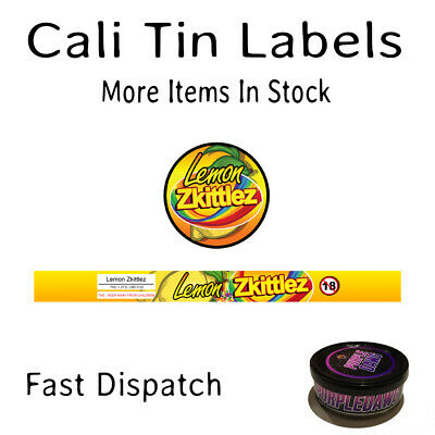 LEMON ZKITTLEZ Cali Tin Labels Stickers / Tuna Can Labels *BEST QUALITY*
