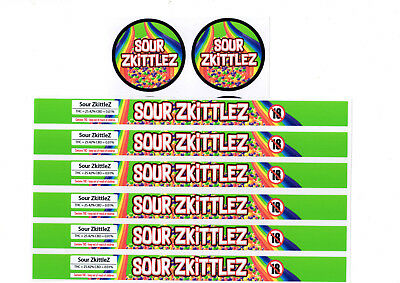 SOUR ZKITTLEZ Cali Tin Labels Stickers / Tuna Can Labels *BEST QUALITY*
