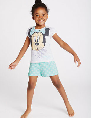 BNWT MARKS AND SPENCER GIRLS' DISNEY MINNIE PYJAMAS Age: 4-5 RRP £13