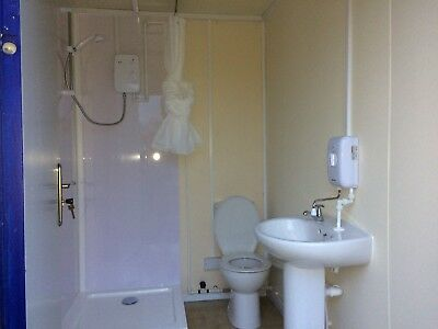 16x8ft Anti Vandal Site Office With Shower & Toilet / Site Cabin / Canteen