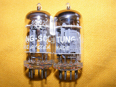 Tung Sol 5751 pair (2) valve tubes.US VIntage.Strong test. matched 12AX7/ECC83