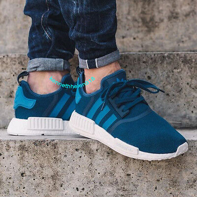 dfd74ce46 Adidas Nmd R1 Running Shoes Tech Steel Unity Blue White S31502 Mens Size 9