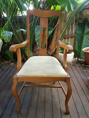 8 Vintage High Backed Dining Chairs