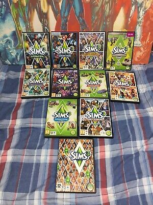 The Sims 3 Base Game & Expansion / Stuff Packs Bundle (Pc/Mac) With Codes V.Good
