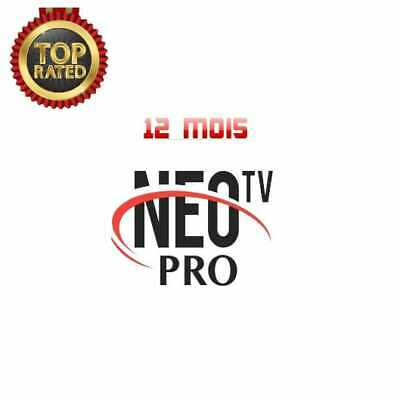 Néo pro 2 abonnement 12 mois full HD 7000 chaines+vod+serie/Android. Vlc. Phone.