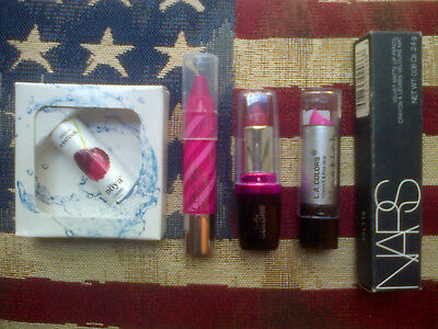 5pc lipstick and balm set: NARS, Clinique, Noya and L.A. Colors (x2)
