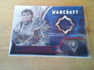 Topps Warcraft The Movie Red Parallel Costume Card Of Callan Lothar Card 13/ 25