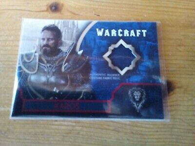 Topps Warcraft The Movie Red Parallel Costume Card Of Karos Card 03 / 25