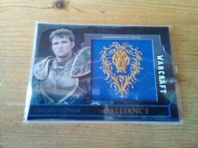 Topps Warcraft The Movie Red Parallel Patch Card Of Callan Lothar Card 32 / 50