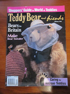 Old Teddy Bear Magazine Teddy Bear And Friends February 1992 *** Must See ******