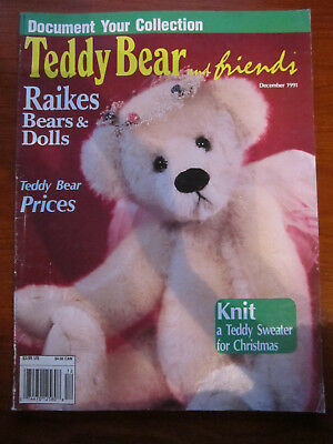 Old Teddy Bear Magazine Teddy Bear And Friends December 1991 *** Must See ******