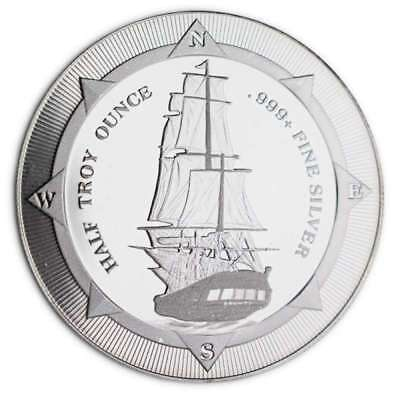 2017 1/2 oz New Zealand Niue Silver HMS Bounty with Light Spots