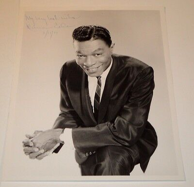 """Nat """"King"""" Cole /  8 X 10  Photo Autographed  By  Wife  Maria  Cole (Only)"""