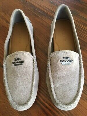 54956b9cd71 COACH MARY LOCK up loafer driver womens size 6.5B  A00926 -  45.00 ...